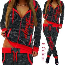 hoodiesandpant, women jogging suit, camouflageset, pants