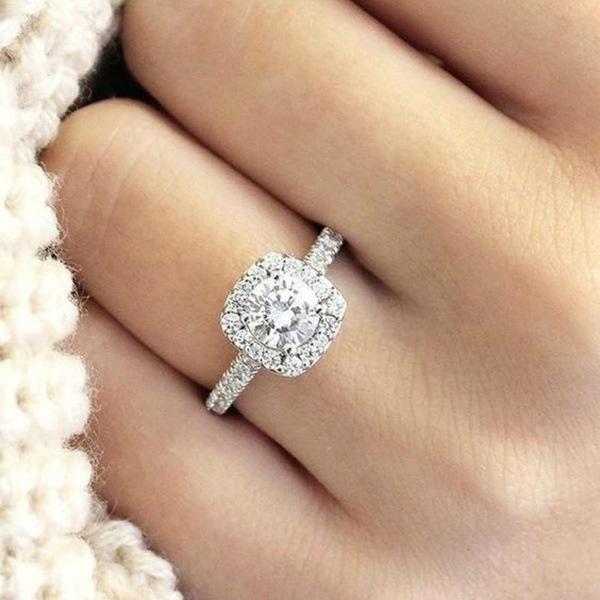 White Gold, Heart, DIAMOND, wedding ring
