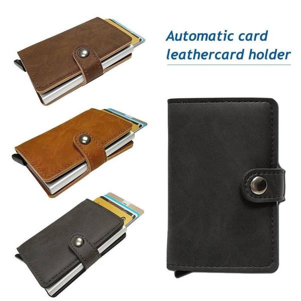 Genuine Leather  Business Credit Card Holder Money Wallet Clip Cash Holder Purse