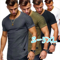 Mens T Shirt, Plus Size, Necks, Summer