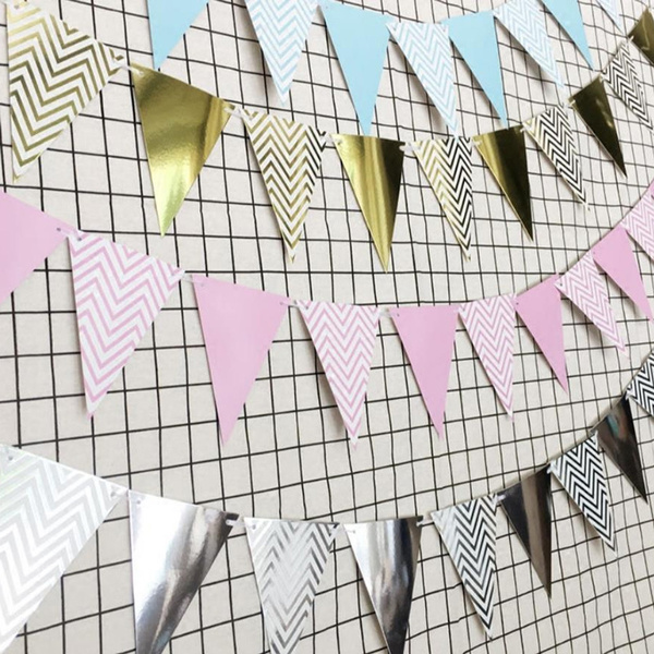 bunting, Home Decor, Garland, paperflag