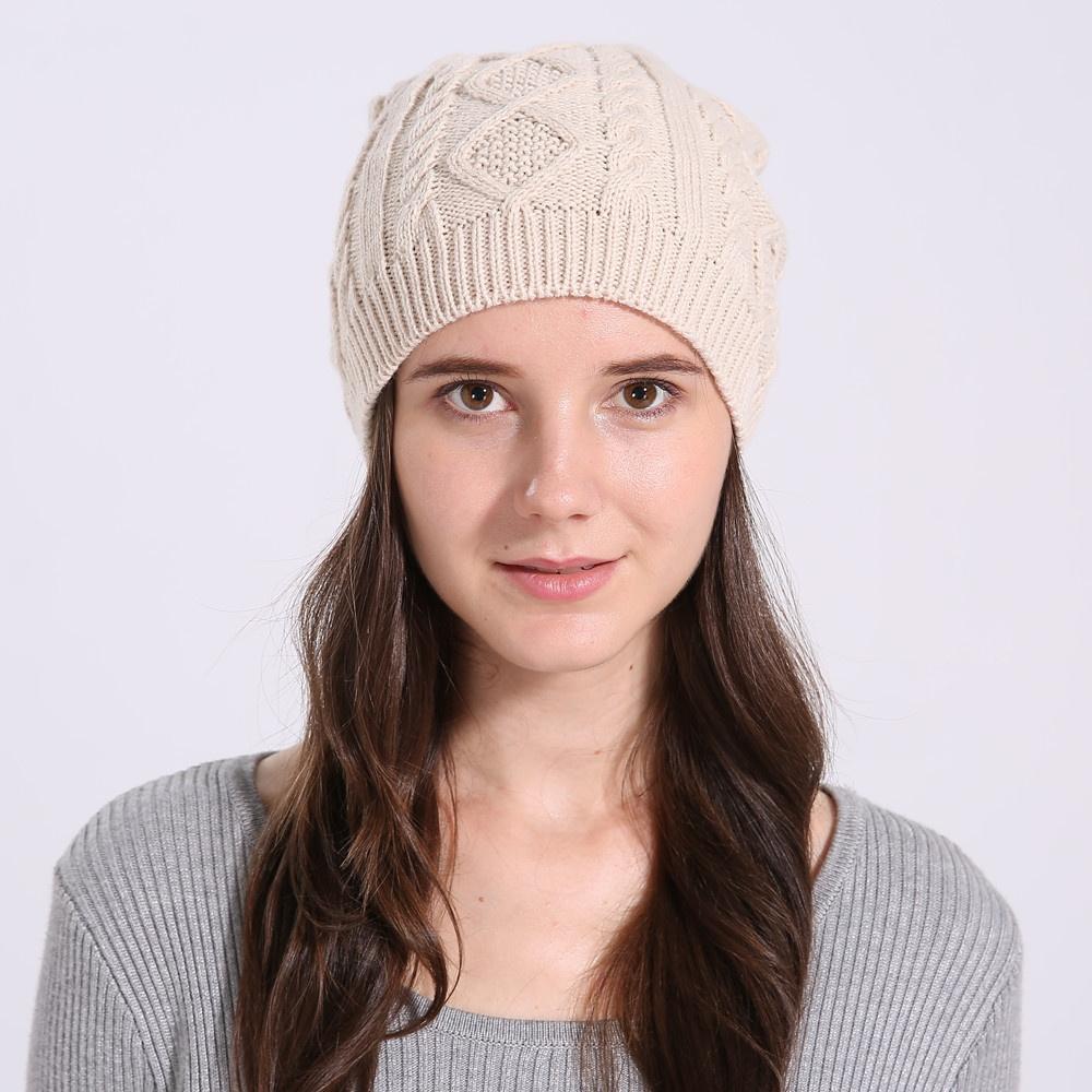 Одежда и обувь Повседневная женская вязаная зимняя шапка (Фото 2)