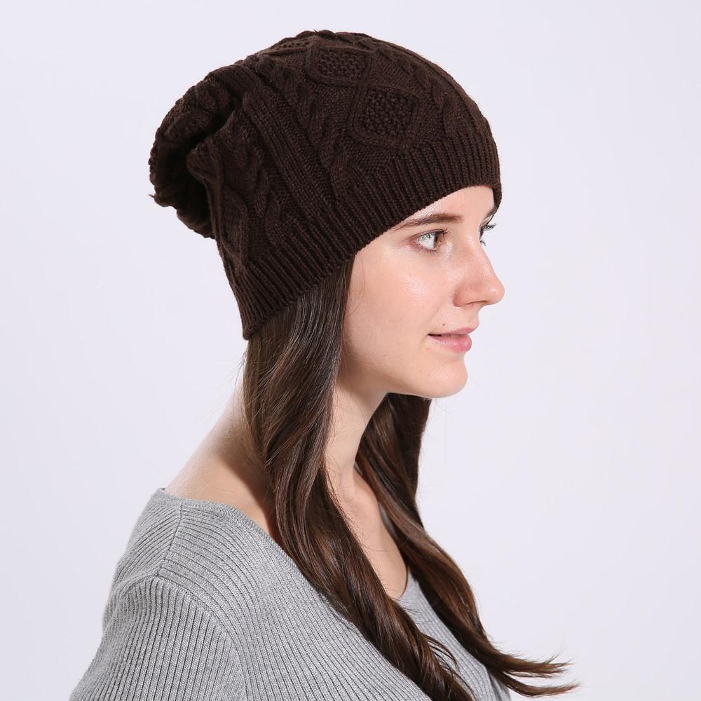 Одежда и обувь Повседневная женская вязаная зимняя шапка (Фото 3)