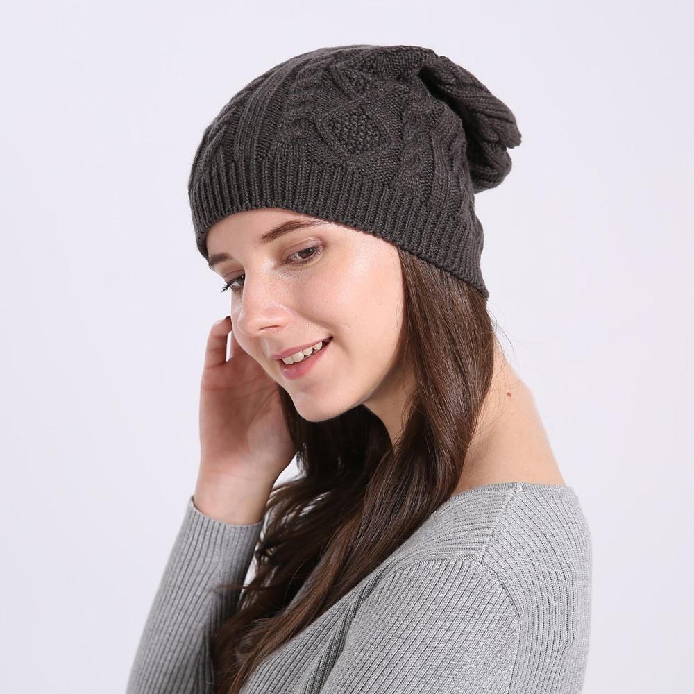Одежда и обувь Повседневная женская вязаная зимняя шапка (Фото 5)