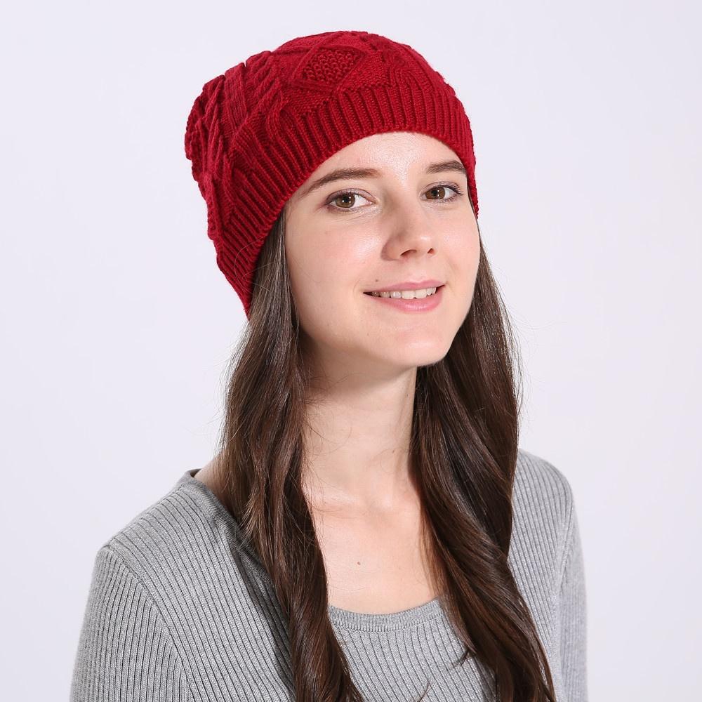 Одежда и обувь Повседневная женская вязаная зимняя шапка (Фото 1)