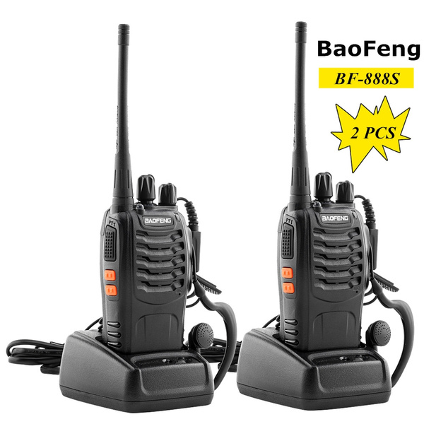 2x BAOFENG BF-888S UHF 400-470MHz 5W 16CH Long Range Two Way Radio Walkie Talkie