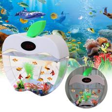 Mini, miniusblcddisplaydesktopfishtank, fishaquarium, smallfishtank