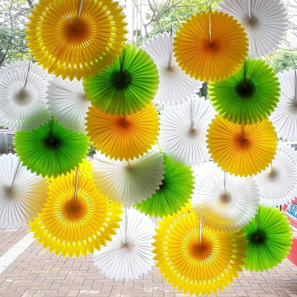 foldingfan, paperfan, Decor, Flowers