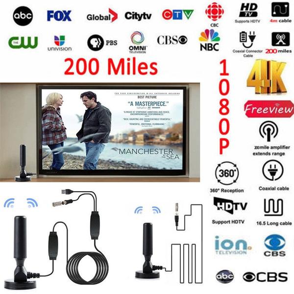 US 200 Miles Outdoor TV Antenna Digital HD Antena Digital 1080P HD Freeview HDTV