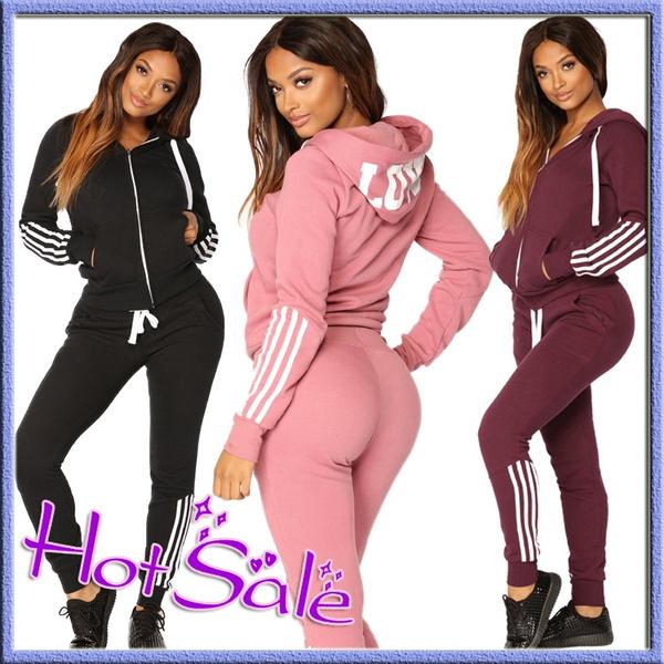 track suit, hoodiesetforwomen, Long sleeved, Sweaters
