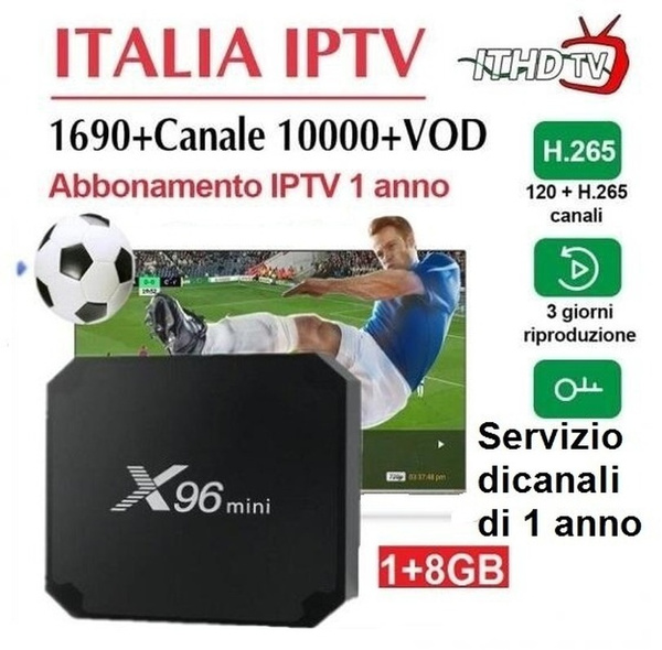 italy iptv with X96 mini Android 7 1 Smart IPTV BOX 1GB8GB Quad Core WiFi  Arabic IPTV Set-top box with 1690+ Channels,the tv channel with 720P pixels