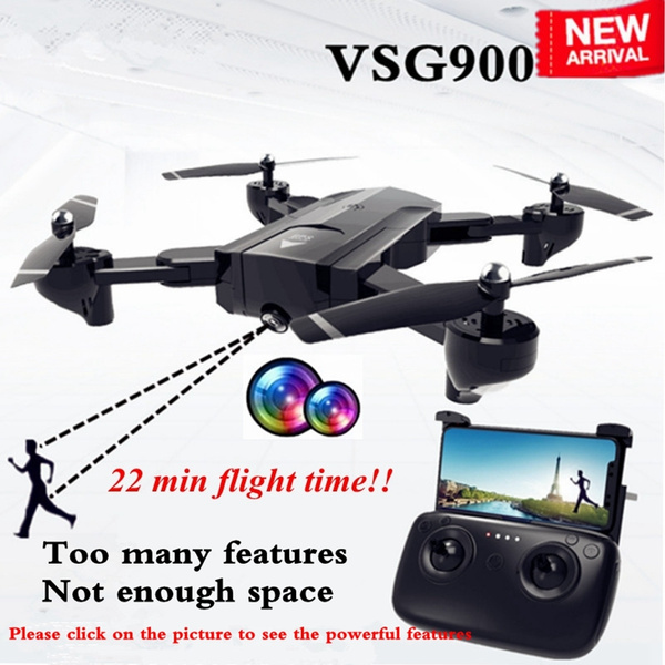 Newest SG900 Rc Drone Folding GPS Smart Follow + Full 1080P HD FPV  Wide-Angle Camera + 360° Rotation + V-Sign + Gesture Video + Real-Time  Transmission