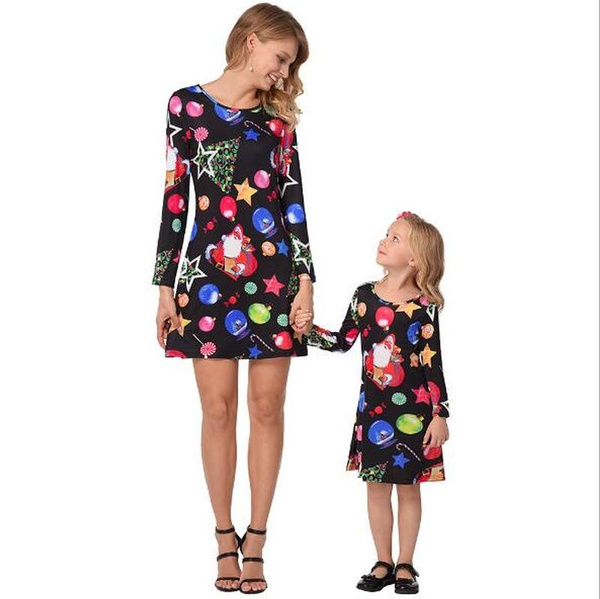 f056b6b3613c Mother Daughter Dresses Family Christmas Pajamas Mommy and Me ...