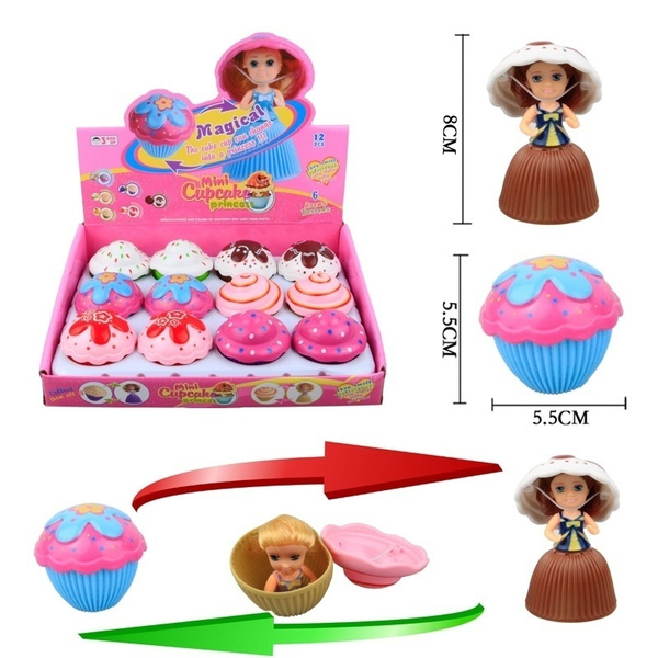 1Pc Lovely Surprise Cupcake Princess Dolls Transformed Scented Cake Girls Toys
