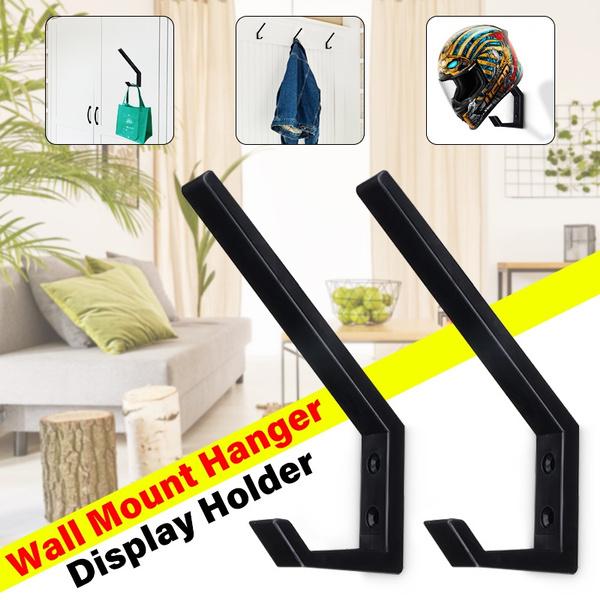 METAL Wall Mount Motorcycle Helmet Holder Hook Jacket Bags Rack Hanger Display r
