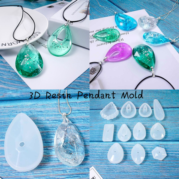 11 Types of 3D Resin Pendant Mold Epoxy Mold Silicone Mold Jewelry Making  DIY Crafting Tools(Molds Only)