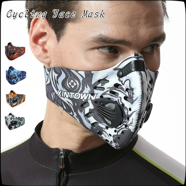 1077c565 Men/Women Activated Carbon Dust-proof Cycling Face Mask Anti-Pollution  Bicycle Bike Outdoor Training Mask Face Shield | Wish