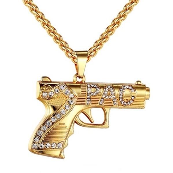 golden, Men, punk necklace, gold