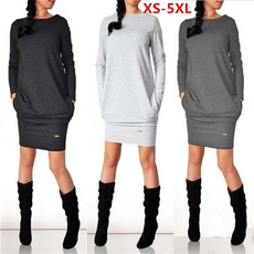 Plus Size, sweater dress, Winter, Dresses