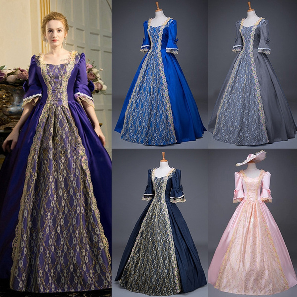 Plus Size 5XL Renaissance Victorian Dress Half Sleeve Lace Ball Gown  Vampire Halloween Dress Southern Belle Costume Historical Stage Clothing