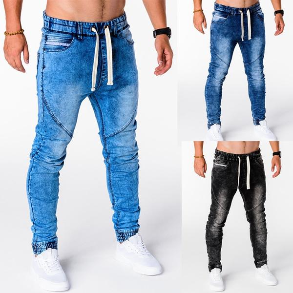 men's jeans, Plus Size, Winter, Elastic