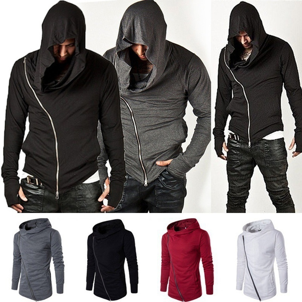 Fashion Men Unbeatable Arm Warmer Diagonal Zip Mens Assassin Creed