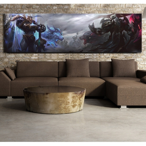 Groovy 1 Piece League Of Legends Garen And Darius God King Skin Video Game Canvas Poster Hd Wall Painting For Home Decor Unframed Caraccident5 Cool Chair Designs And Ideas Caraccident5Info
