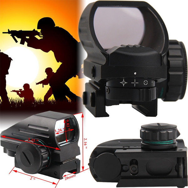 Hunting Optics Sight Scopes Holographic Sight Red Dot 4 Type Reticle Reflex  Pistol Tactical Airsoft Air Guns