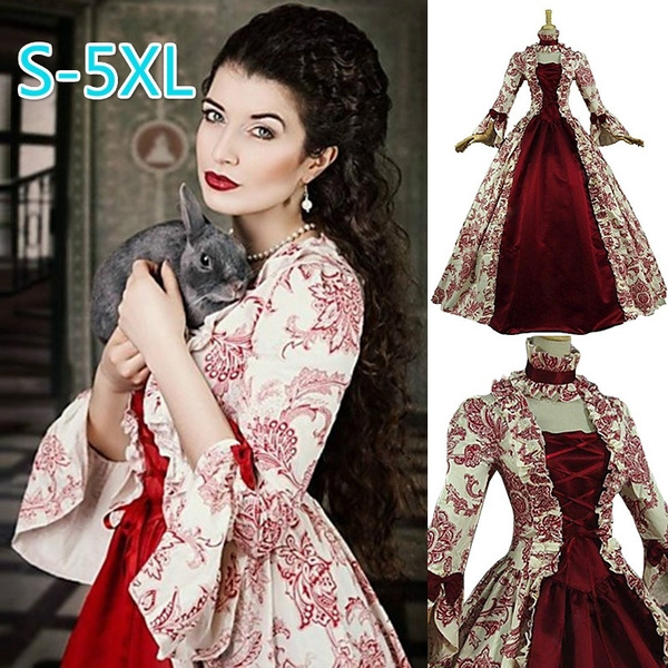 Christmas Ball Gowns Plus Size.Women S Plus Size Dress Women Medieval Dress Vintage Marie Antoinette Dress Christmas Ball Gown Theatre Costumes