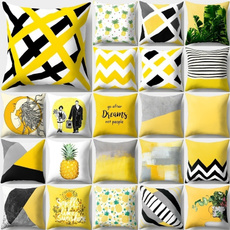 Home Decor, Yellow, Pillow Covers, Cushion Cover