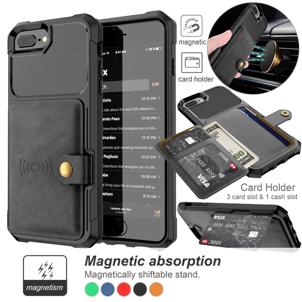 save off 0bd91 6f67d For Samsung Galaxy S9 S9 Plus Wallet Card Holder Slot Case Leather  Shockproof Magnetic Flip Cover for iPhone X 8 8 Plus 7 7 Plus 6 6S Plus  Samsung ...