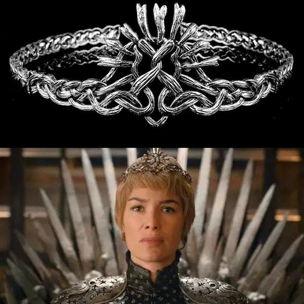 Game of Thrones Cersei Lannister Cosplay Crown Headwear Halloween Queen Headband