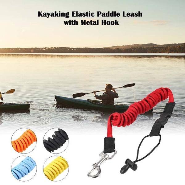 Kayak Canoe Boat Paddle Leash//Fishing Rod Coiled Lanyard Cord Tie Rope