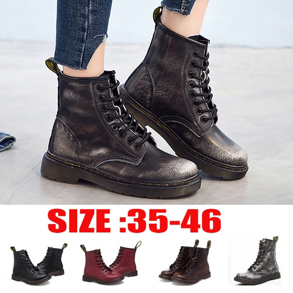 6 Colors Men Women Fashion New England Style Genuine Leather Martin Boots Martin Shoes Marten Dr Designer Motorcycle Boots Plus Size 35 42 Wish