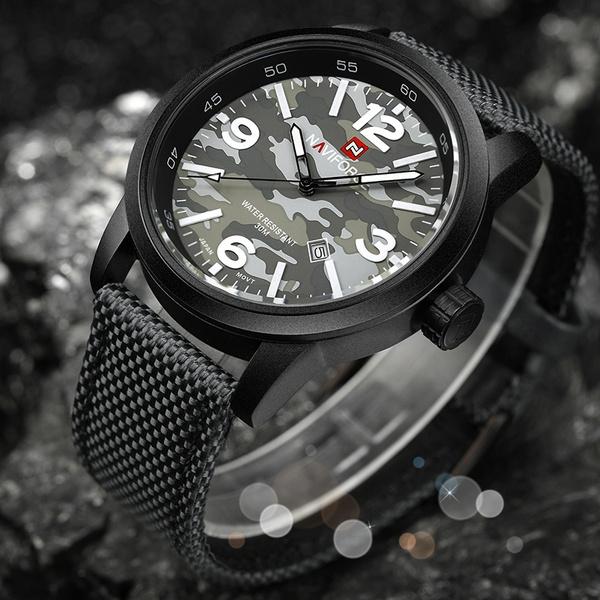 Armee Quarzuhr Militär Uhren Naviforce New Brand Männlichen Sport Herren Luxury Armbanduhr I9W2EDHeY
