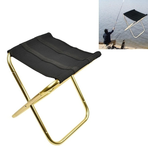 Cool Portable Folding Camping Chair Foldable Stool Black Small Aluminum Oxford Seat Outdoor For Fishing Hiking Travel Garden Bbq Uwap Interior Chair Design Uwaporg