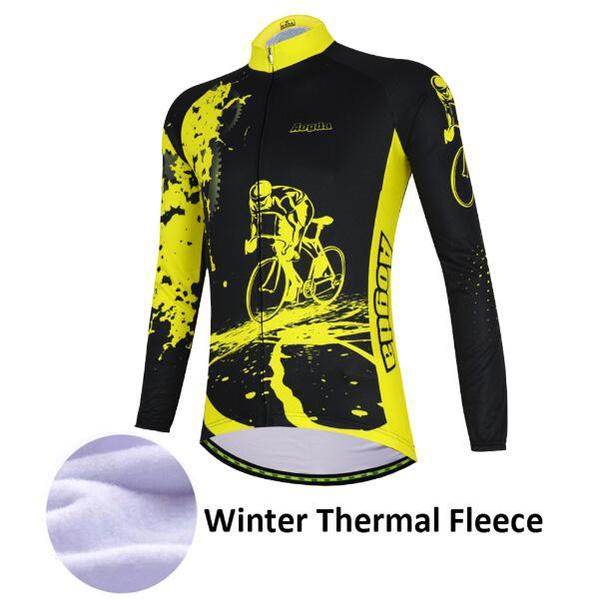 2018 Winter Herren Langarm Thermische Radfahren Jersey Winddicht Fahrrad Kleidung Mountainbike Jersey Hemd