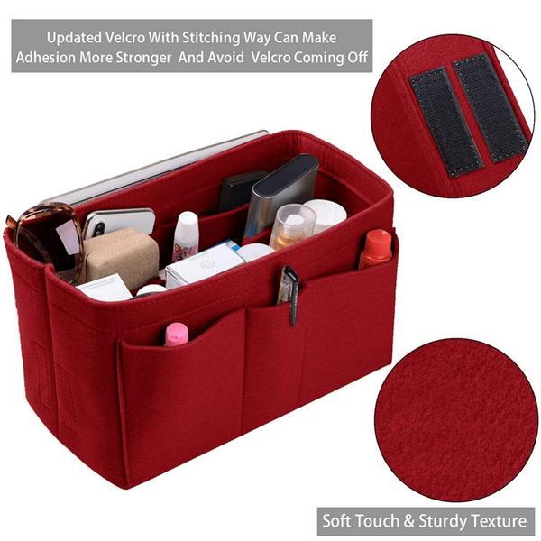 Felt Fabric Organizer Insert Felt Fabric Bag Organizer for Handbag Tote Storage