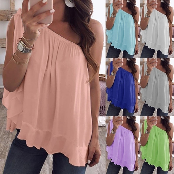 Summer, Vest, Plus Size, Shirt