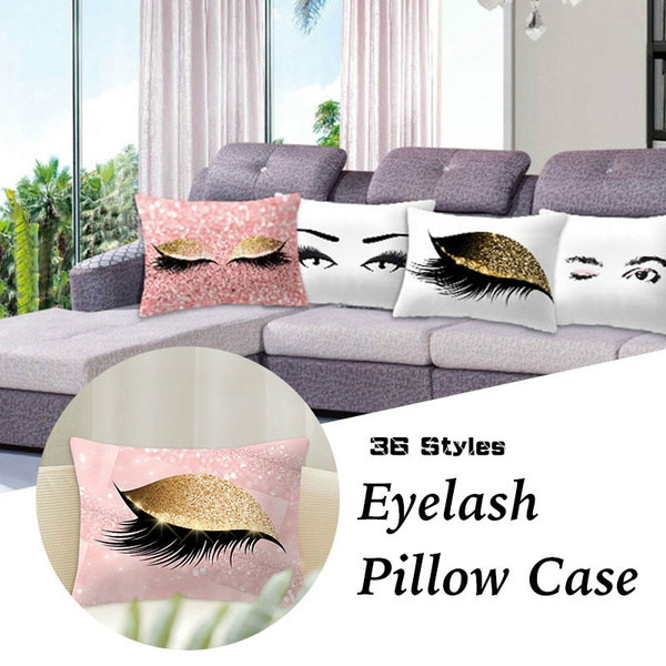 Eyelashes, Home Decor, sofaspillowcover, Pillowcases