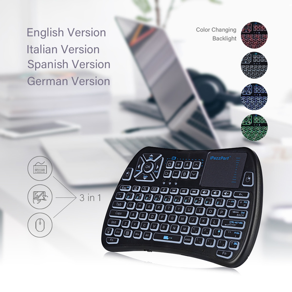 iPazzPort KP - 810 - 61 Wireless Mini Keyboard Backlight Function with  Touchpad