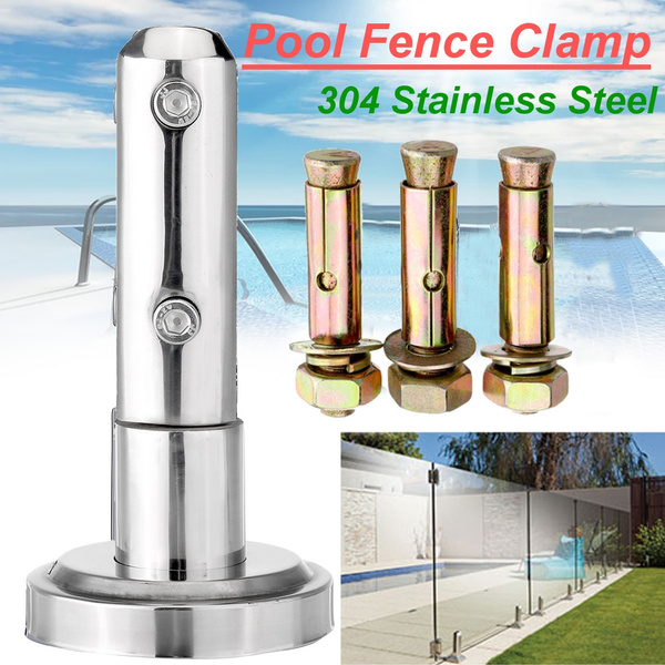 A Floor Standing Stairs Balcony Pool Glass Spigots Post Balustrade Railing Clamp
