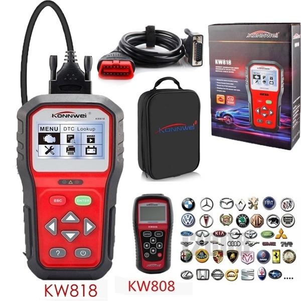 Hot Sale CARGOOL KW818 KW808 OBDII OBD2 EOBD Car Car Erasing / Reset Car  Fault Diagnosis Code Diagnostic Scanner