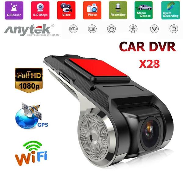 Anytek X28 1080P FHD Car DVR Camera Recorder WiFi ADAS G-sensor Dash Cam