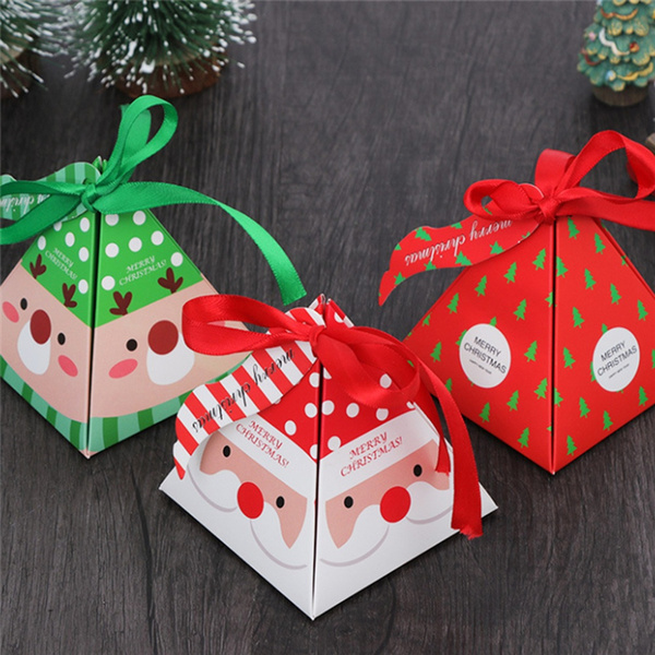 Kids Favors Gift Package Candy Box Paper Carrier Xmas Bags Christmas Decoration