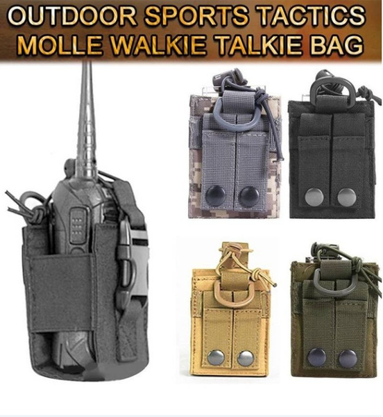 600D Airsoft Tactical Military Molle Radio Walkie Talkie Belt Pouch Bag Pocket