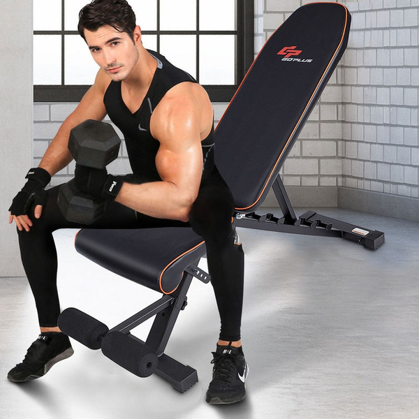 Foldable Weight Bench Adjustable Back Dumbbell Bench For Full Body Workout Gym
