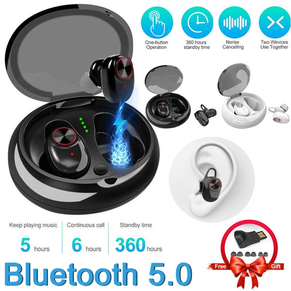 Tws Bluetooth 5 0 True Wireless Earbuds With Mic Charging Case Noise Cancelling Headphones Deep Bass Hd 3d Stereo Surround Waterproof Sports Earphones Wish