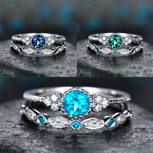 diamondringforwomen, Couple Rings, Engagement, Blue Sapphire