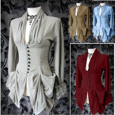 Goth, Fashion, ruffle, Women Blouse